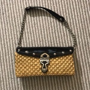 BRAND NEW Michael Kors wicker bag with leather